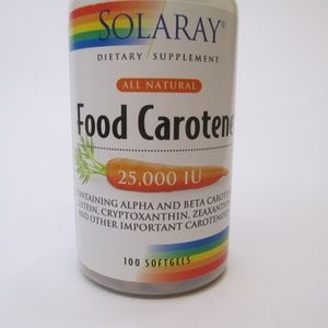 Solaray food carotene 100 soft gels 8/20